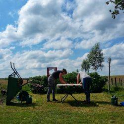 In De Tuin, Workshop Vilten